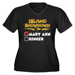 Island Showdown Women's Plus Size V-Neck Dark T-Shirt