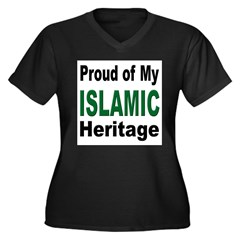 Proud Islamic Heritage Women's Plus Size V-Neck Dark T-Shirt