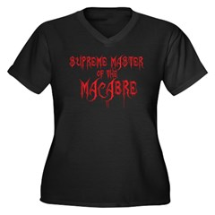 Supreme Master of the Macabre Women's Plus Size V-Neck Dark T-Shirt