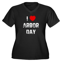 I * Arbor Day Women's Plus Size V-Neck Dark T-Shirt