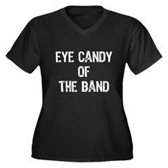 Eye Candy Of The Band Women's Plus Size V-Neck Dark T-Shirt