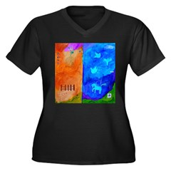 Night Fall Freedom Women's Plus Size V-Neck Dark T-Shirt