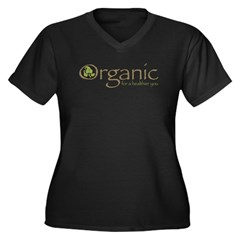 Organic for a healthier you Women's Plus Size V-Neck Dark T-Shirt