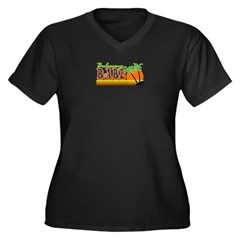 Bulawayo Babe Women's Plus Size V-Neck Dark T-Shirt