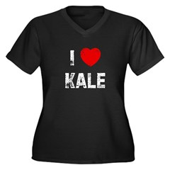 I * Kale Women's Plus Size V-Neck Dark T-Shirt