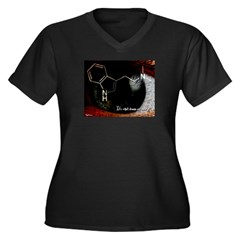DMT - Woman's shri Women's Plus Size V-Neck Dark T-Shirt