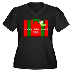 Jingle-Wear Women's Plus Size V-Neck Dark T-Shirt