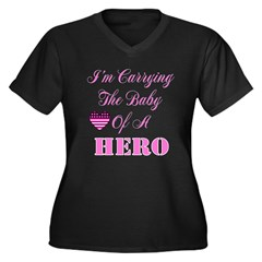 I'm carrying the baby of a He Women's Plus Size V-Neck Dark T-Shirt
