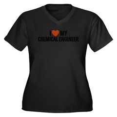 I Love My Chemical Engineer Women's Plus Size V-Neck Dark T-Shirt