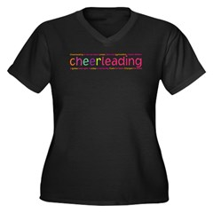 cheerleading Women's Plus Size V-Neck Dark T-Shirt