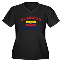 Good Lkg Ecuadorian 2 Women's Plus Size V-Neck Dark T-Shirt