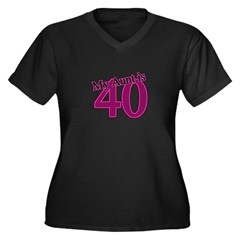 Aunt's 40th Birthday Women's Plus Size V-Neck Dark T-Shirt