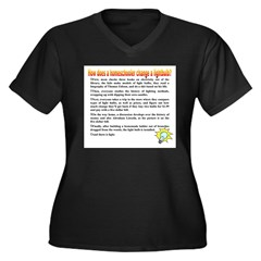 Homeschool Lightbulb Women's Plus Size V-Neck Dark T-Shirt