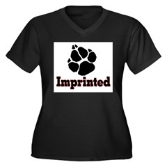 IMPRINTED2 Women's Plus Size V-Neck Dark T-Shirt