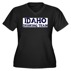 Idaho drinking team Women's Plus Size V-Neck Dark T-Shirt