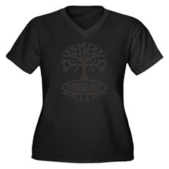 Genealogy Women's Plus Size V-Neck Dark T-Shirt