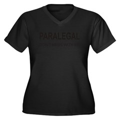 Paralegal Women's Plus Size V-Neck Dark T-Shirt