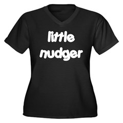 Nudger Women's Plus Size V-Neck Dark T-Shirt