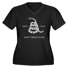 Don't Tread On Me Women's Plus Size V-Neck Dark T-Shirt