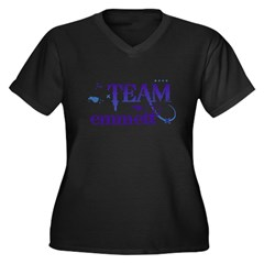 Team Emmett Women's Plus Size V-Neck Dark T-Shirt