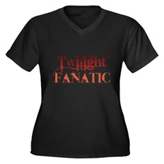 Twilight Fanatic Women's Plus Size V-Neck Dark T-Shirt