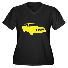 auto_volvo_140y Women's Plus Size V-Neck Dark T-Shirt