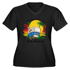 Road To Shambala Women's Plus Size V-Neck Dark T-Shirt