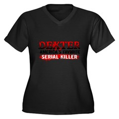 Dexter Women's Plus Size V-Neck Dark T-Shirt