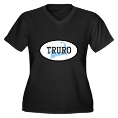 Truro Women's Plus Size V-Neck Dark T-Shirt