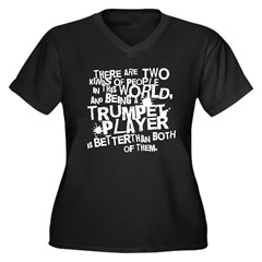 Best Trumpet Player Women's Plus Size V-Neck Dark T-Shirt