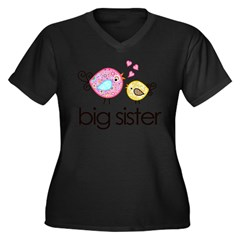 MASTER whimsy birds front no personalization Women's Plus Size V-Neck Dark T-Shirt