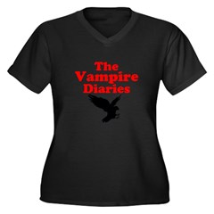 New Section Women's Plus Size V-Neck Dark T-Shirt