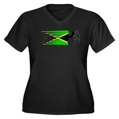 Boxing - Jamaica Women's Plus Size V-Neck Dark T-Shirt