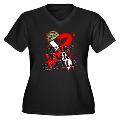 Battle Oral Cancer Women's Plus Size V-Neck Dark T-Shirt