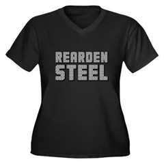 Rearden Steel Women's Plus Size V-Neck Dark T-Shirt
