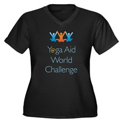 Yoga Aid World Challenge MILFORD Women's Plus Size V-Neck Dark T-Shirt