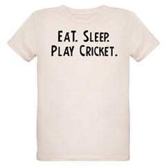 Eat, Sleep, Play Cricket Infant Creeper Organic Kids T-Shirt