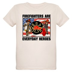 Firefighter Heroes Organic Kids T-Shirt