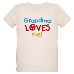 Grandma Loves Me Kids Organic Kids T-Shirt