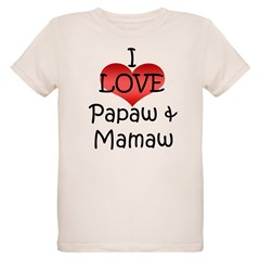 I Love Papaw & Mamaw Infant Creeper Organic Kids T-Shirt