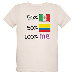 Mexican/Colombian Flag Organic Kids T-Shirt