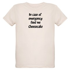 Feed me Cheesecake Organic Kids T-Shirt