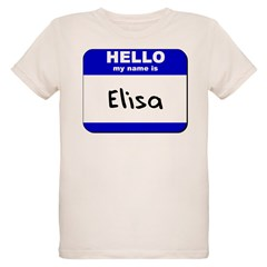 hello my name is elisa Organic Kids T-Shirt