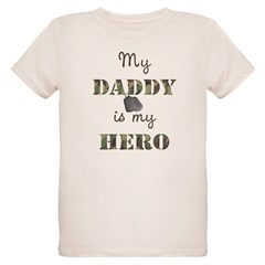 My Daddy Is My Hero Organic Kids T-Shirt