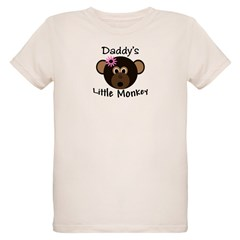 Daddy's GIRL Little Monkey Organic Kids T-Shirt