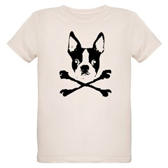 Boston Terrier Crossbones Organic Kids T-Shirt