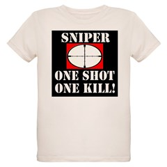 Sniper - One Shot - One Kill! Organic Kids T-Shirt