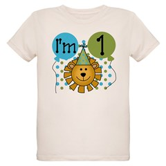 Lion 1st Birthday Organic Kids T-Shirt