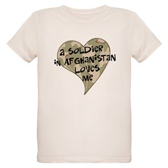 Afghanistan soldier love Organic Kids T-Shirt