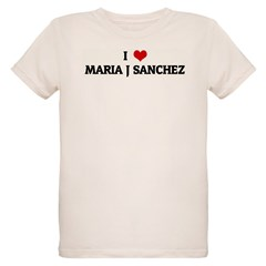 I Love MARIA J SANCHEZ Organic Kids T-Shirt
